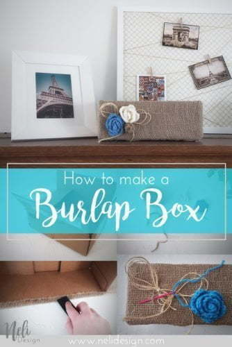 How to make a burlap box, DIY storage bin, home decor tutorial, upcycle a cardbord box, upcycled cardboard boxes, transform cardboxes idea, house organization, hide cables, hide electronics #cardboardboxes #organization #homedecor #storagebin #storagebox #electronics #DIY #tutorial