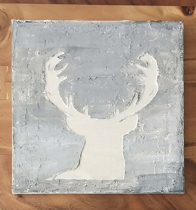 DIY deer art with antlers
