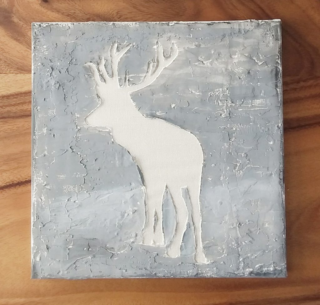 DIY deer art all the body