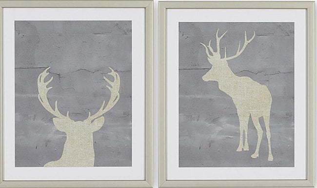 Image of the two deer art I saw in the store.