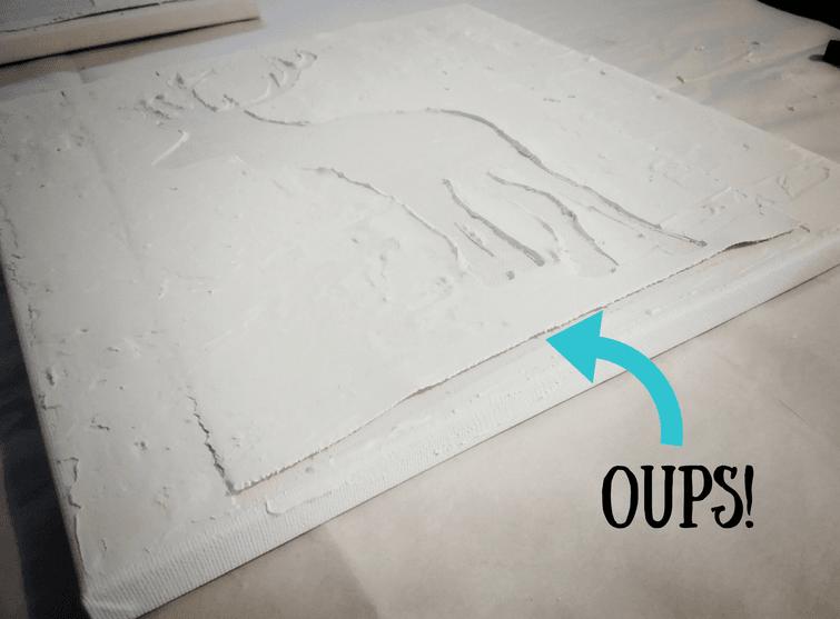 Déco murale de cervidés, canevas à faire soi-même, facile à réaliser, déco murale cerfs, gabarit gratuit à télécharger, tuto #walldecor #wallart #deerart #deer #diycanvas #cerfs