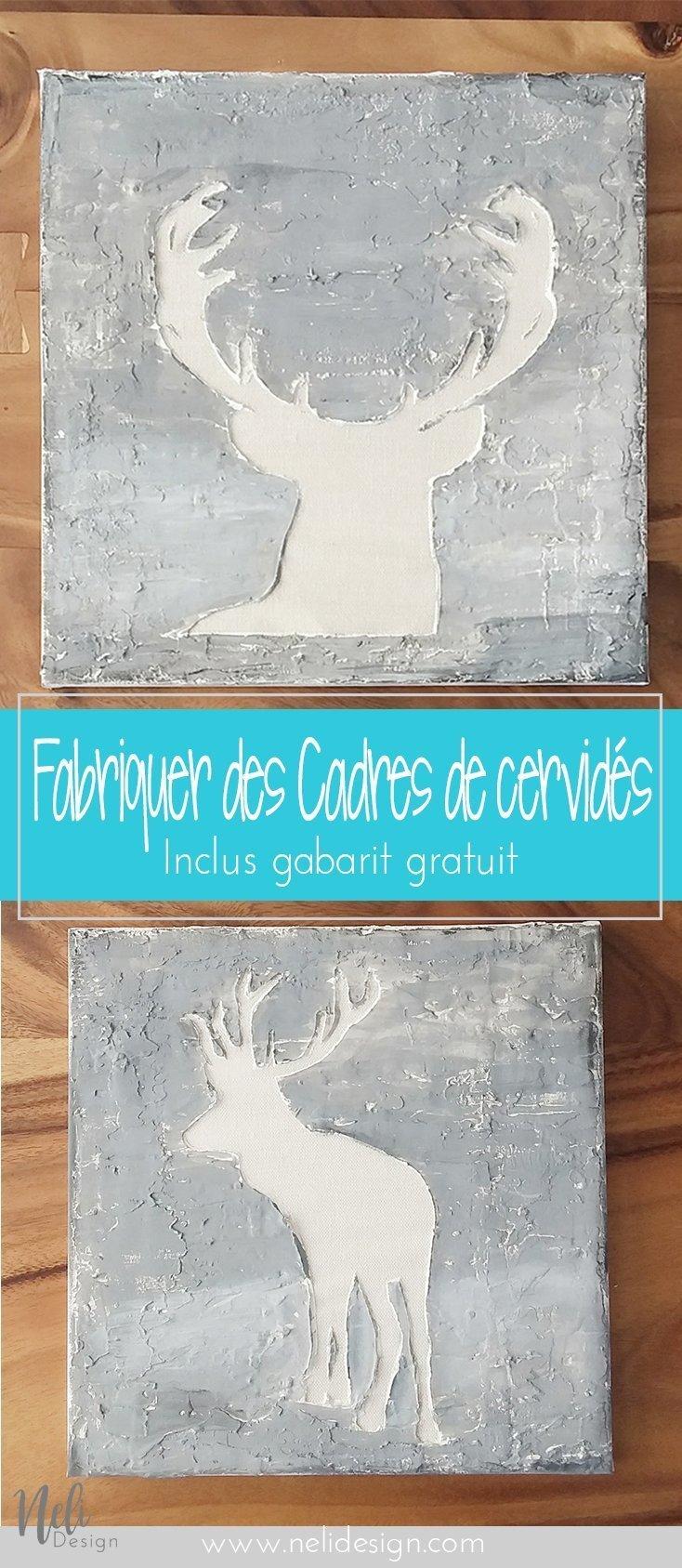Free Deer Art Printable and Silhouette Cut file | Deer Wall Art | Freebie | Gratuit | Silhouette cervidé | cerf | PDF | Home Decor | Cadre décoration maison