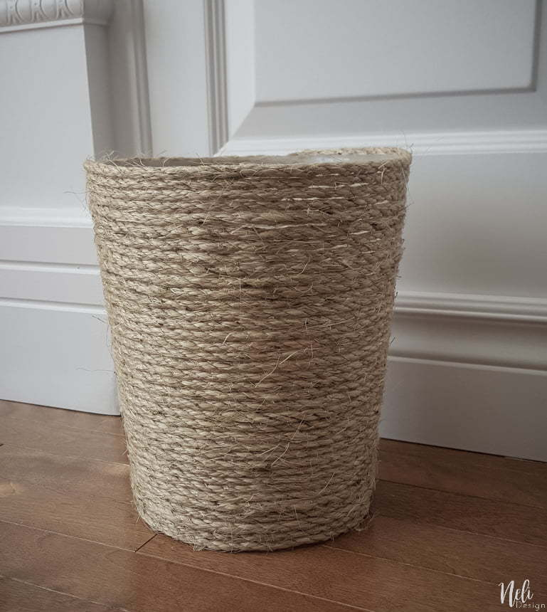 Trash can update with sisal rope