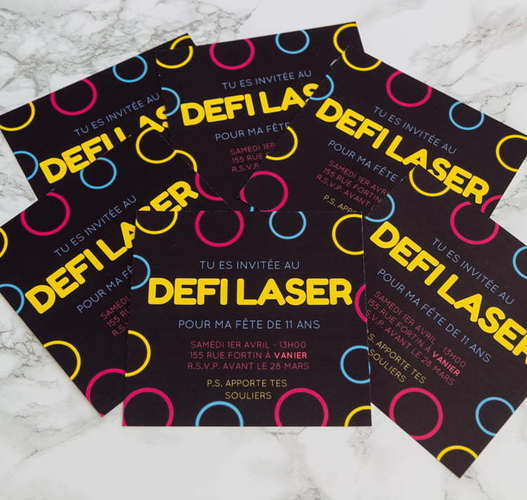 Canva | DIY | Laser Tag | Party invitation | Birthday | Easy | Homemade | DIY