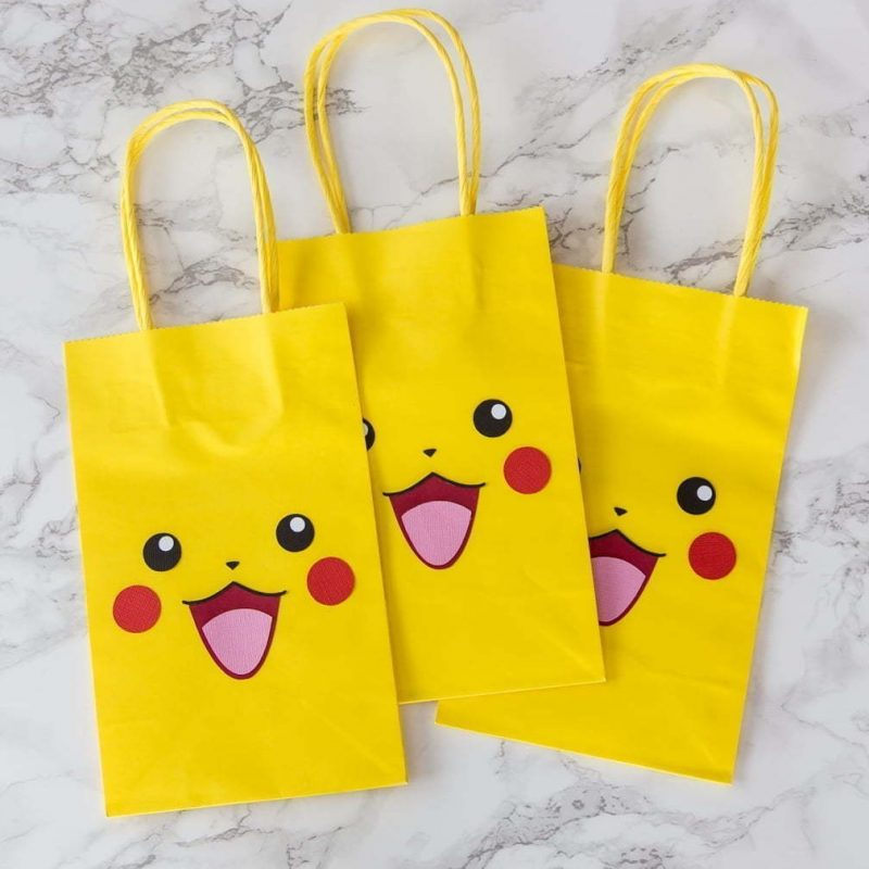 Pikachu party bags | party favors | Silhouette | Easy DIY | Sacs surprises | Fête | Pokémon |