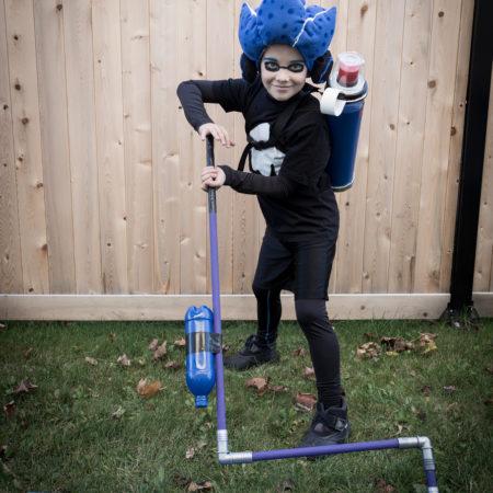 Splatoon 2   Kid Halloween Costume   T-shirt   Cosplay   Inkling boy costume   blue   headphones   shirt   Ink tank   Ink roller   Paint roller   rouleau de peinture   DIY   Tutorial   garçon  Stencil   pochoir   gabarit gratuit   Free template