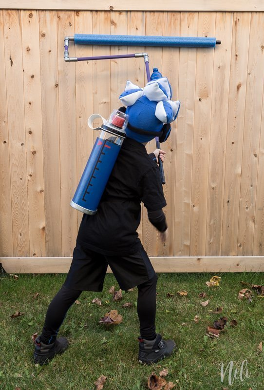 Splatoon 2 costume | Kid Halloween Costume | T-shirt | Cosplay | Inkling boy costume | blue | headphones | shirt | Ink tank | Ink roller | Paint roller | rouleau de peinture | DIY | Tutorial | garçon| Stencil | pochoir | gabarit gratuit | Free template