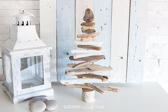 Etsy gifts, Etsy shop, cadeaux boutiques Etsy, Driftwood Christmas Tree | Driftwood Christmas Tree for Sale | Driftwood Trees | Rustic XMas Decor | Coastal Christmas Decor | Cottage Decor, arbre de noël en bois de grève