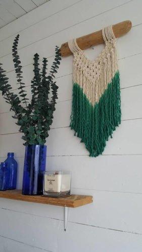 Etsy gifts, Etsy shop, cadeaux boutiques Etsy, Blue Green macrame, Macrame wall hanging, Boho, Les Loleries, Deco, wall hanging, macrame hanger, décoration macrame