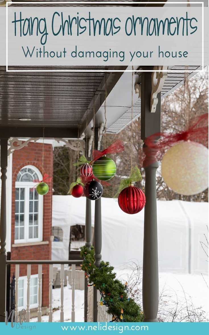 Hang Christmas ornaments without damaging your house