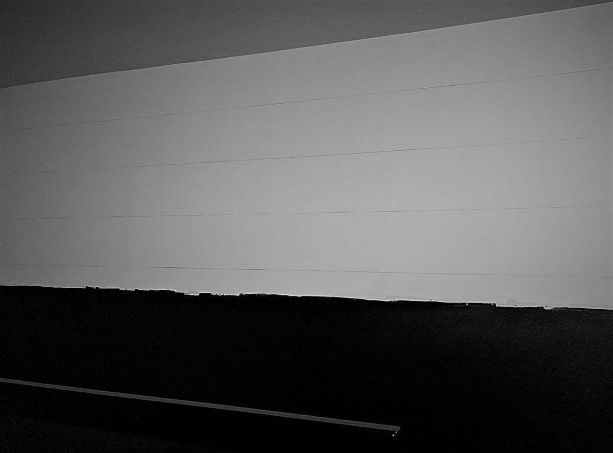 Sico paint, faux shiplap, home decor, color of the year 2018, $100 room challenge, pencil, lambris, peinture sico couleur 2018, crayon lignes