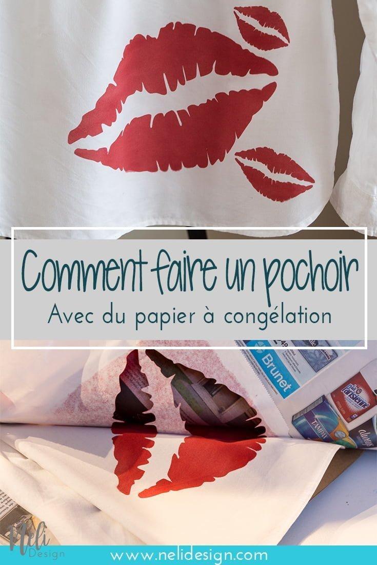 """Image pour Pinterest indiquant """"Comment faire un pochoir avec du papier à congélation"""""""