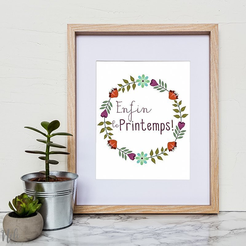 Fichier imprimable du printemps à télécharger | Enfin le printemps | Doux printemps | Ça sent le printemps | Soleil | fleurs | bourgeons | rayon de soleil | fini l'hiver | en français | citation | spring quotes | citation du printemps | Spring printable to download | flowers | bloom | sunshine | freebies | Spring is in the air | Hello Spring | Hello sunshine | finally spring #quotes #spring #wallart #frame #homedecor #bloom #flowers #sunshine #citation #fleurs #printemps #soleil #décoration #déco #francais
