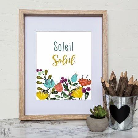 Fichier du printemps imprimable, Etsy, décor mural, fleurs, à encadrer, à imprimer, soleil, printemps