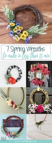 DIY Spring wreath to make, low cost, foam, grapewine, embroidery hoop, vintage, rustic, farmhouse, easy, affordable, dollarstore, Couronne du printemps à faire soi-même, facile, peu coûteuse, dollorama, vigne, mousse, broderie #springwreath #diy #wreath #spring #dollarstore #doorhook #grapewine #embroidery #foam #flower #succulent #tulip #burlap