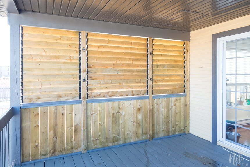 How to create an outdoor privacy screen, patio screen, balcony, outdoor screen, separation, cut the view #patio # exterior