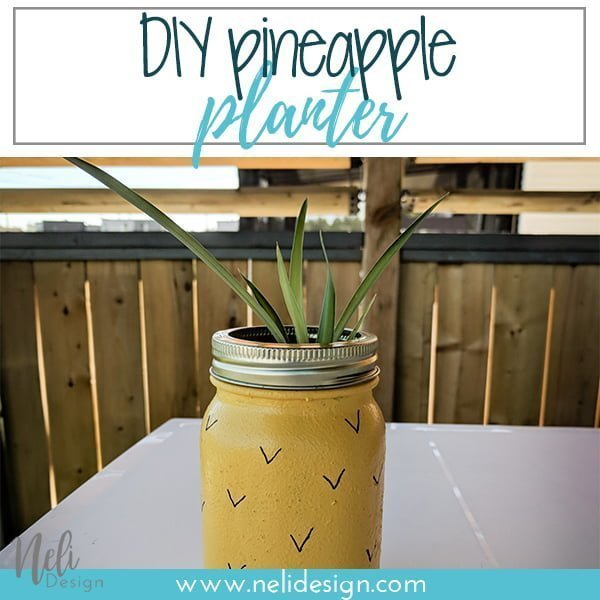 "Pinterest image saying ""DIY pineapple planter"""