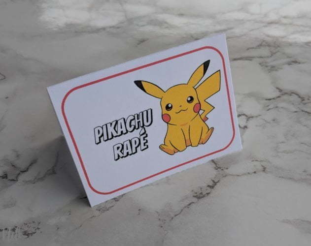 Get these free printables to make your own Pokemon pizza bar for kids. I made this for my son's Pokemon themed birthday party and the Pokemon themed food was a blast. Kids get to make their own pizza choosing Pokemon themed toppings. Available in French and English, it's an easy Pokemon pizza party idea and kids have lots of fun! And it's less work for you since it's like a buffet! #pokemon #partyideas #pizza #partyfood #birthdayparty #freebie