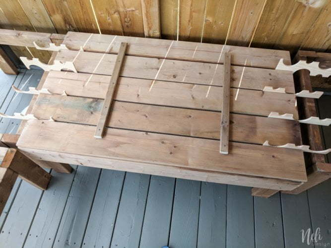 How to make the lid of modular outdoor bench with storage