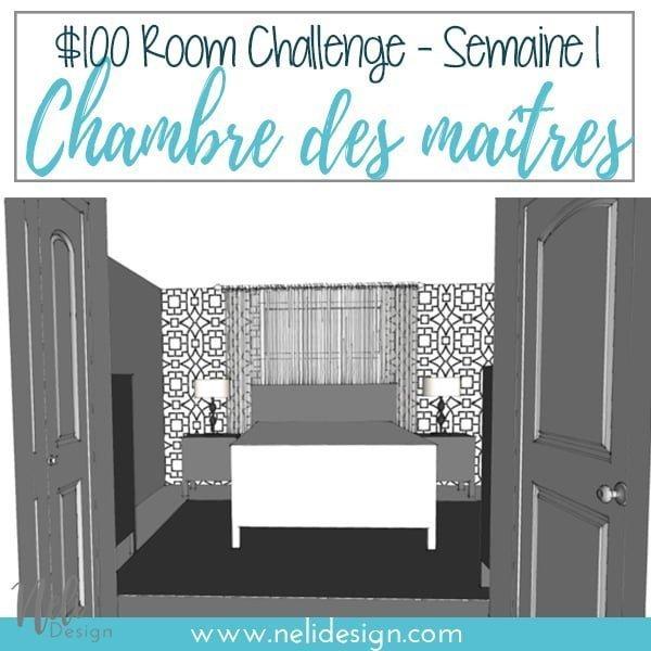 Découvrez ce que j'ai prévu pour ma petite chambre de maître Makeover pour le défi Chambre $100. Beaucoup d'idées sont prévues pour changer ce décor et ajouter la couleur, tout cela, sur un budget. Vous verrez que la mise en page sera modifiée de sorte que le lit est en face de la fenêtre. Consultez le plan avant et après. #100roomchallenge #masterbedroom #onabudget #bedroomdecor #bedroomideas #bedrooms