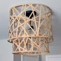 How to upgrade a ceiling lamp shade