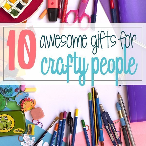 Find 10 awesome gifts for crafty people. These are the best ideas for crafters from a crafty girl herself. Either for Christmas or a birthday, find what to give your friend or wife for their next craft project of DIY. #diy #crafts #giftguide #ideas