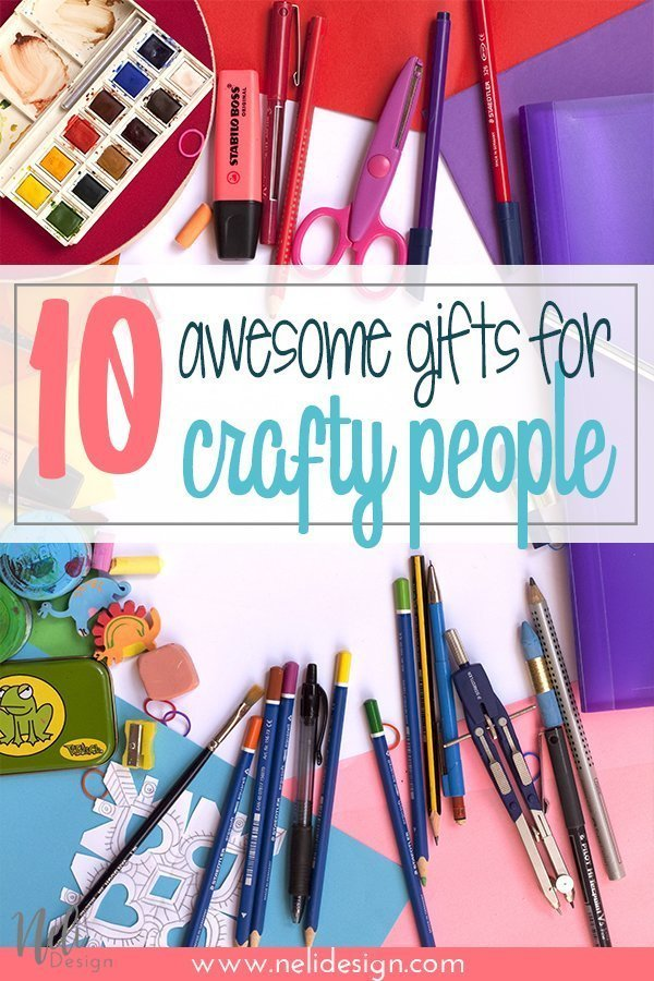 Pinterest image saying 10 awesome gifts for crafty people