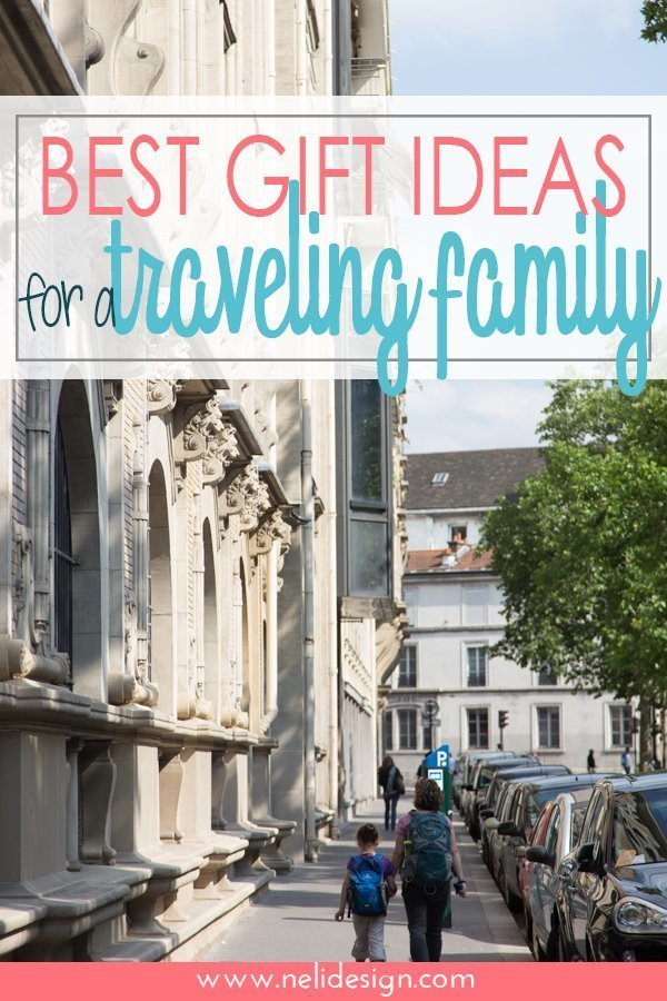 "Pinterest image saying ""Best gift ideas for a traveling family"""