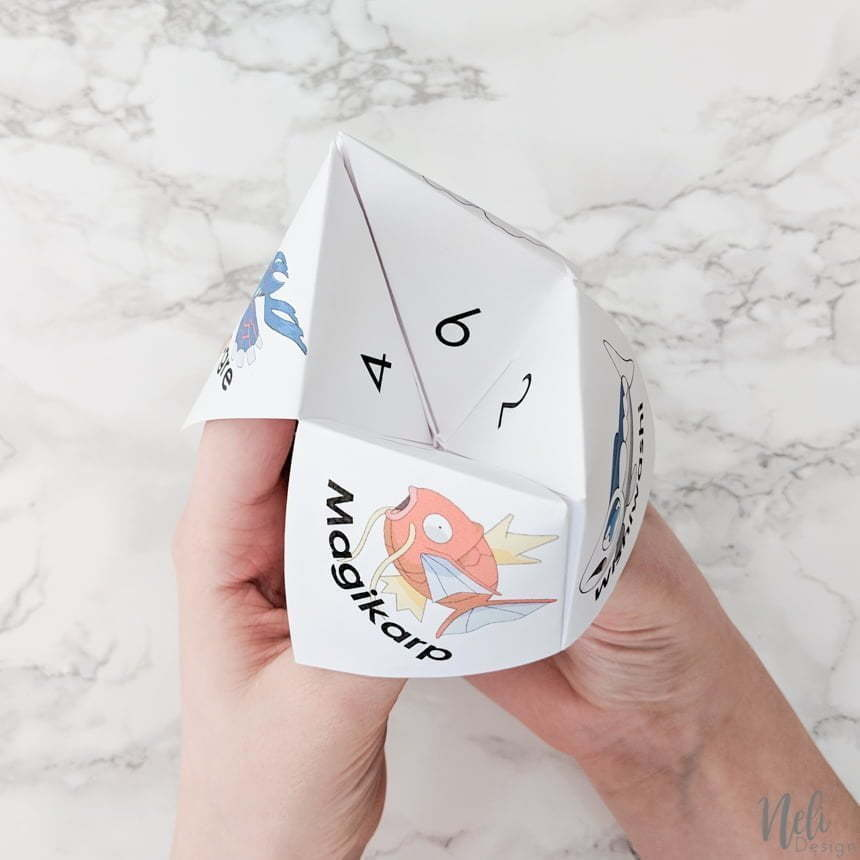 Now you can play with the April Fool's Pokemon Cootie Catcher