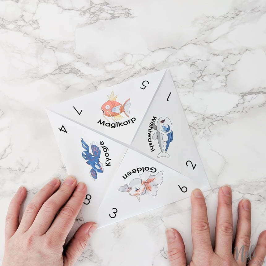 How to fold the April Fool's Pokemon Cootie Catcher