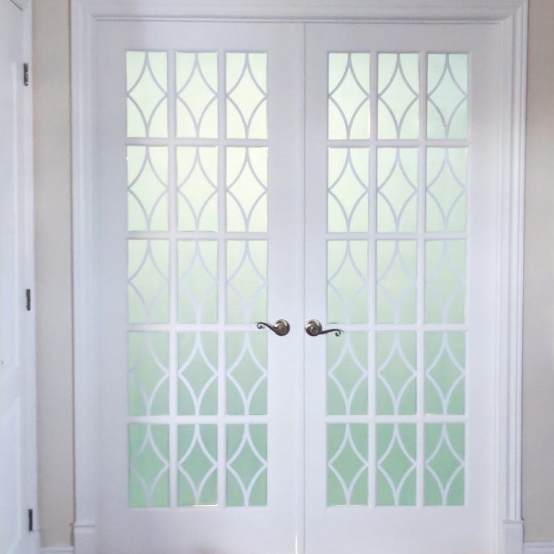 How to add privacy to French door glasses