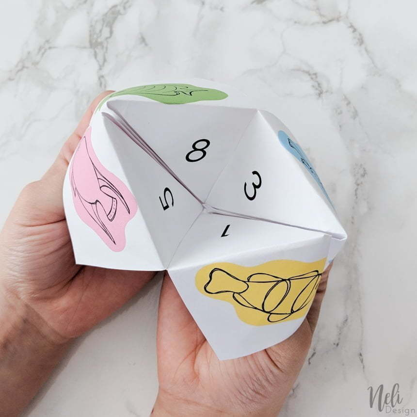 April Fool's cootie catcher when opened
