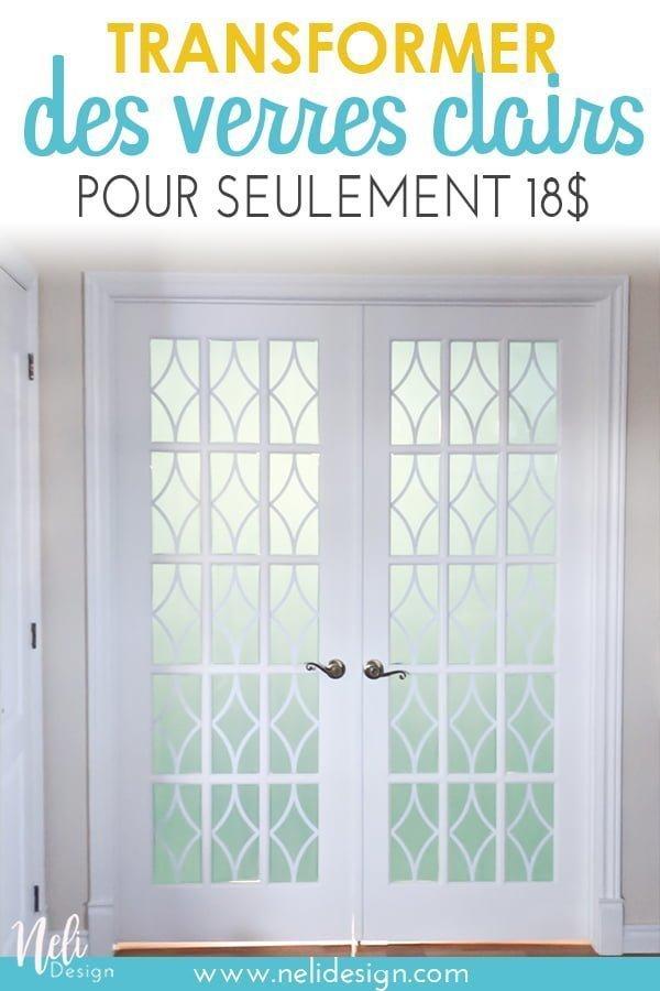 """Image pour Pinterest qui indique """"Transformer des verres clairs pour seulement 18$"""""""