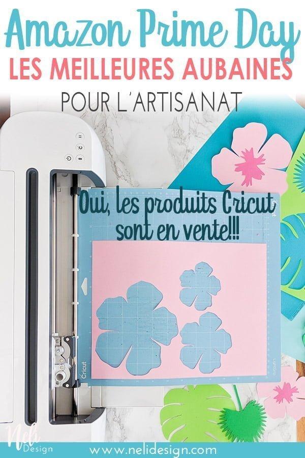 Image Pinterest annonçant : Amazon Prime day, tous les meilleurs rabais sur l'artisanat que vous attendiez Oui, les produits Cricut sont en rabais !
