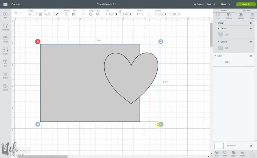 Using Group in Cricut Design Space