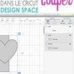 Image Pinterest indiquant Bien utiliser la fonction Couper dans le Cricut Design Space