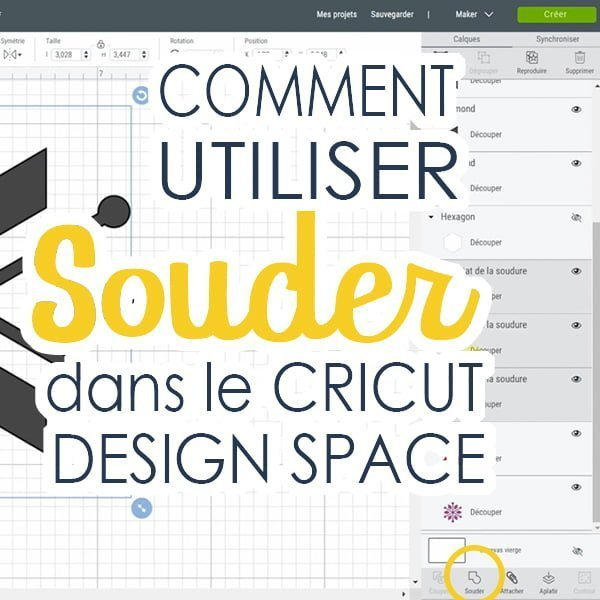 Image du Cricut Design Space où il est indiqué Comment utiliser Souder dans le Cricut Design Space