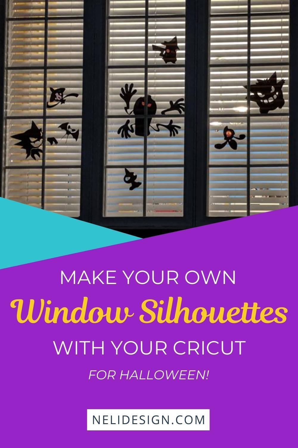 Make your own window silhouettes with your Cricut