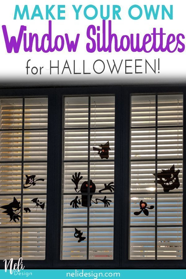 "Pinterest image  ""Make your own window silhouettes for Halloween"""