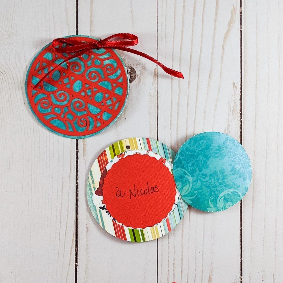 DIY gift tag for a Secret Santa Christmas gift exchange