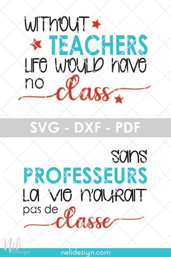 Pinterest image written: Free SVG file DIY teacher gift