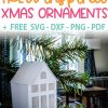 How to make ikea inspired christmas ornament with free SVG, DXF, PNG and DPF