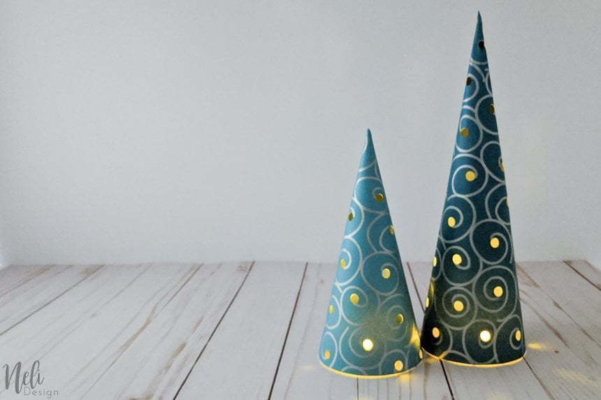 DIY Christmas tree centerpiece with lights