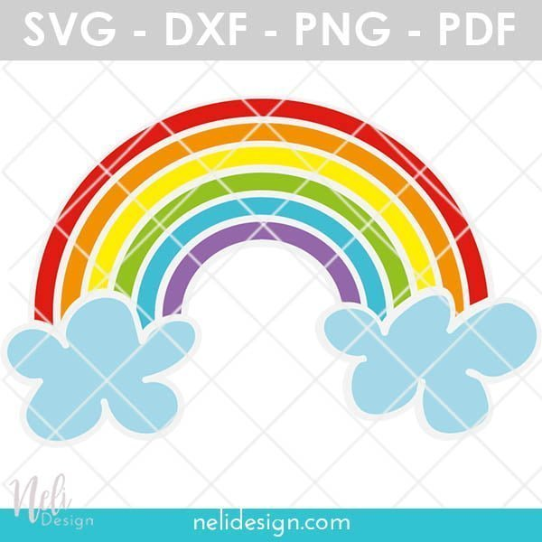 Rainbow SVG to show how to layer vinyl with your Cricut