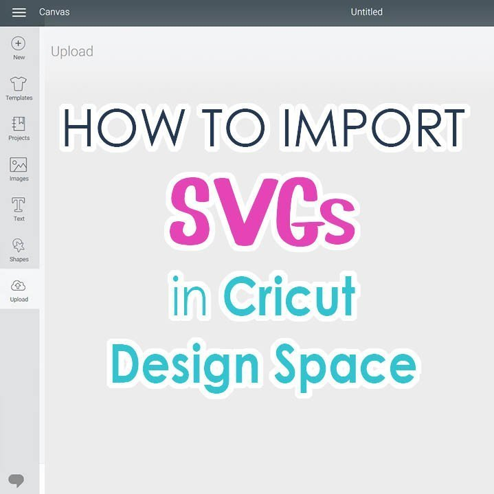 image showing Import SVG into Cricut Design Space
