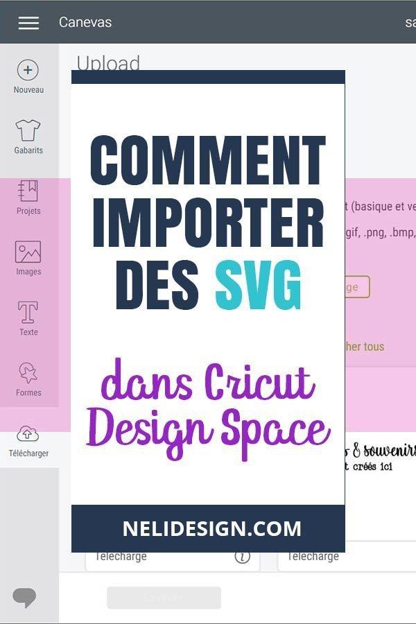 image Pinterest indiquant comment importer des SVG dans Cricut Design Space