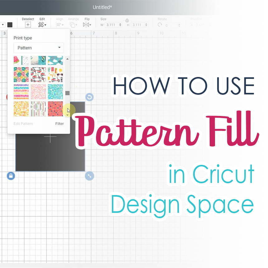 How to use pattern fill in Cricut Design Space