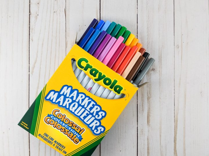 Crayola markers to replace Cricut pens